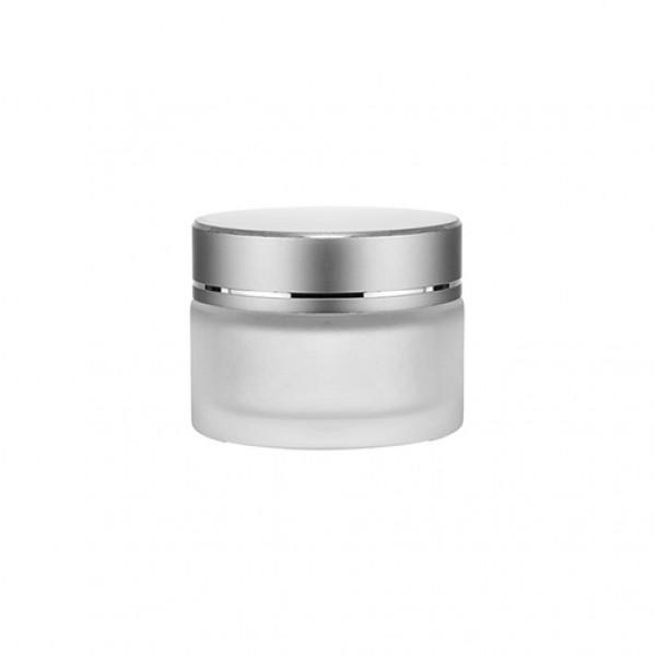 Kozmetik Buzlu Cam Krem Kavanozu - 50ml