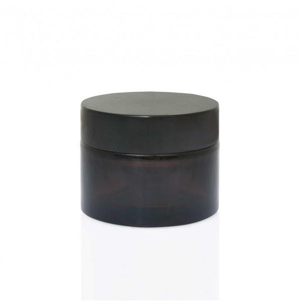 Amber Krem Kavanozu Set – 50 ml Siyah Kapak