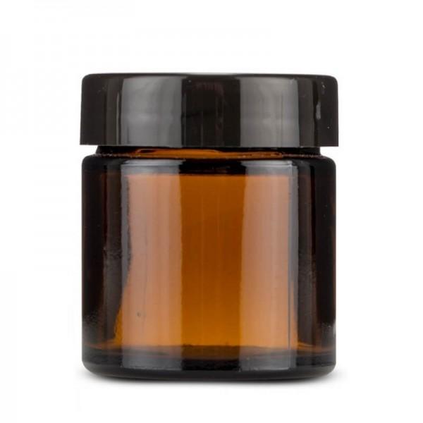Amber Krem Kavanozu Set – 100 ml Siyah Kapak
