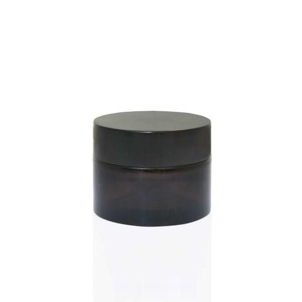 Amber Krem Kavanozu Set – 30 ml Siyah Kapak