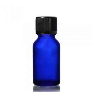 20ml Mavi Şişe - Siyah Kapak