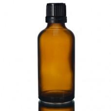 50ml Amber Şişe - Siyah Kapaklı