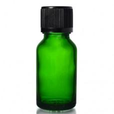 20ml Yeşil Şişe - Siyah Kapak