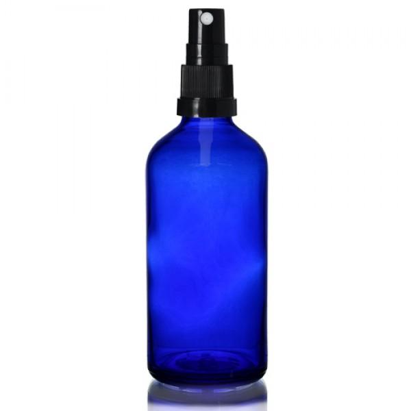 100ml Mavi Şişe - Siyah Sprey