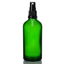 100ml Yeşil Şişe - Siyah Sprey