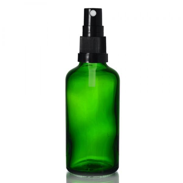 50ml Yeşil Şise - Siyah Sprey