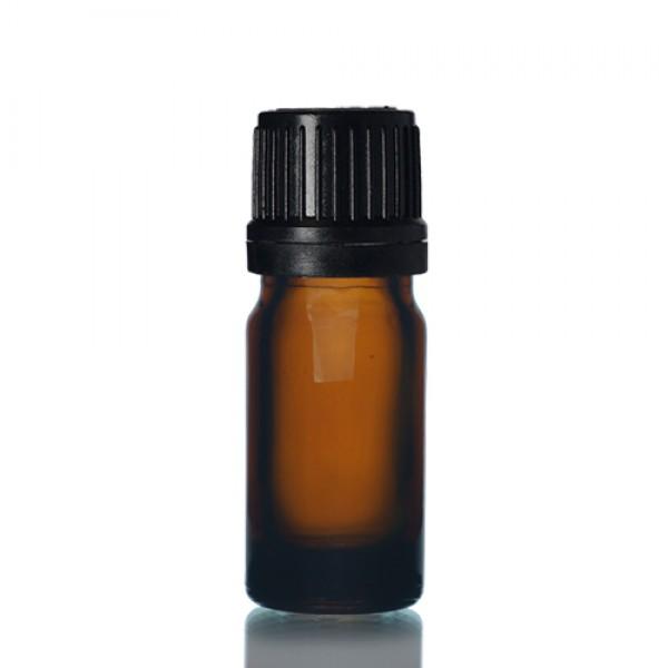 5ml Amber Şişe - Siyah Kapaklı