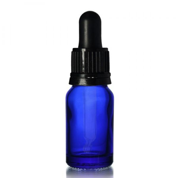 10ml Mavi Şişe - Siyah Damlalıklı