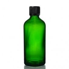 100ml Yeşil Şişe - Siyah Kapak
