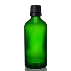 100ml Yeşil Şişe - Siyah Kapaklı