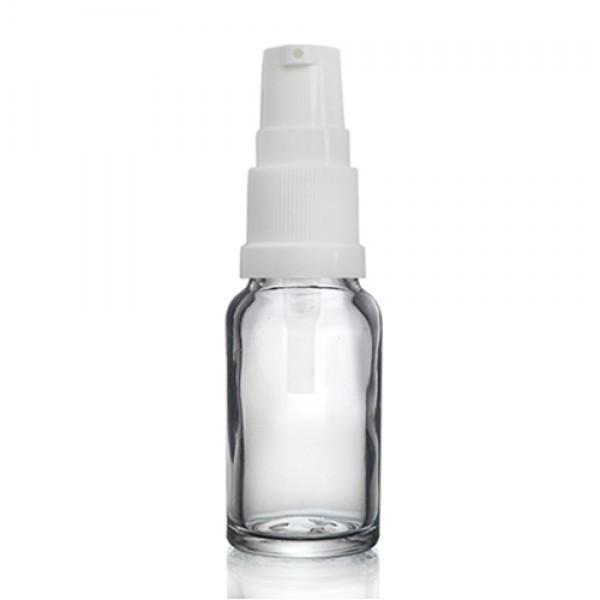 10ml Şeffaf Şişe - Beyaz Pompa