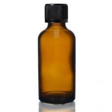 50ml Amber Şişe - Siyah Kapak