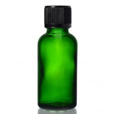 30ml Yeşil Şişe - Siyah Kapak