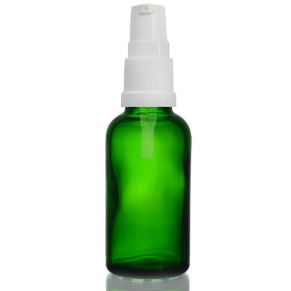 30ml Yeşil Şişe - Beyaz Pompa