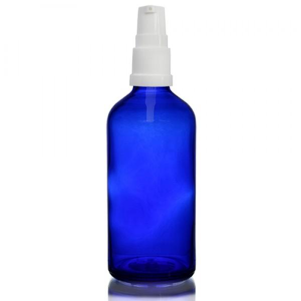 100ml Mavi Şişe - Beyaz Pompa