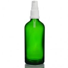 100ml Yeşil Şişe - Beyaz Pompa