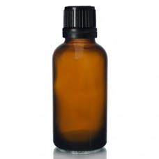 30ml Amber Şişe - Siyah Kapaklı