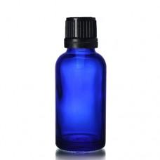 30ml Mavi Şişe - Siyah Kapaklı