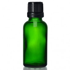 30ml Yeşil Şişe - Siyah Kapaklı